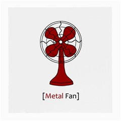 Metal Fan Medium Glasses Cloth (2 Side)