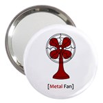 Metal Fan 3  Handbag Mirrors Front