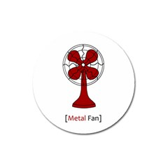 Metal Fan Magnet 3  (round)