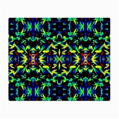 Cool Green Blue Yellow Design Small Glasses Cloth (2 Side)