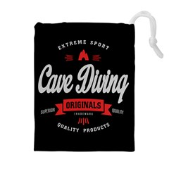 Cave Diving Extreme Sport Drawstring Pouches (Extra Large)