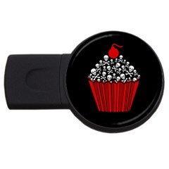 Skull Cupcake Usb Flash Drive Round (4 Gb)