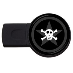 Star Skull Usb Flash Drive Round (4 Gb)
