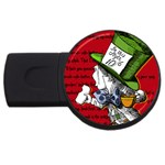 The Mad Hatter USB Flash Drive Round (4 GB)  Front