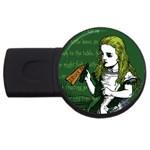 Alice In Wonderland USB Flash Drive Round (4 GB)  Front