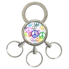 Peace Sign Collage Png 3-Ring Key Chain