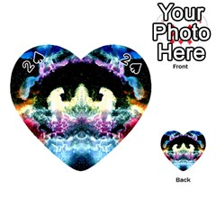 Space Cosmos Black Blue White Red Playing Cards 54 (heart)