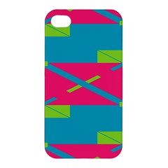 Rectangles And Diagonal Stripes Apple Iphone 4/4s Hardshell Case