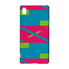 Rectangles And Diagonal Stripessony Xperia Z3+ Hardshell Case