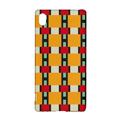 Rectangles And Squares Pattern			sony Xperia Z3+ Hardshell Case