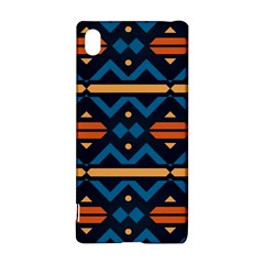 Rhombus  circles and waves pattern			Sony Xperia Z3+ Hardshell Case
