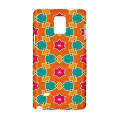Pink Flowers Pattern			samsung Galaxy Note 4 Hardshell Case
