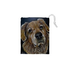 Selfie Of A Golden Retriever Drawstring Pouches (xs)