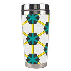 Blue Stars And Honeycomb Pattern Stainless Steel Travel Tumbler