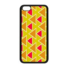 Red Brown Triangles Patternapple Iphone 5c Seamless Case (black)