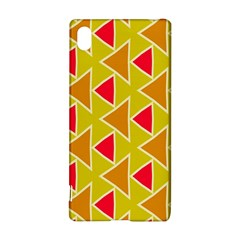 Red brown triangles pattern			Sony Xperia Z3+ Hardshell Case