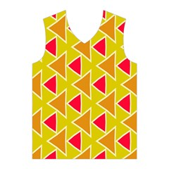 Red brown triangles pattern Men s Basketball Tank Top