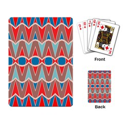 Rhombus And Ovals Chainsplaying Cards Single Design