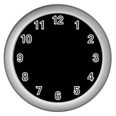 Black Gothic Wall Clocks (Silver)