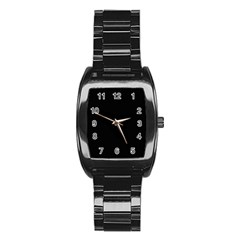 Black Gothic Stainless Steel Barrel Watch