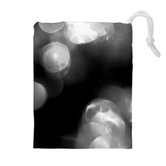 Black and White Circle Drawstring Pouches (Extra Large)