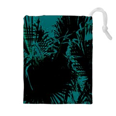Palm Designs Drawstring Pouches (Extra Large)