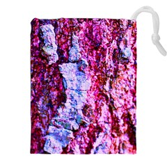 Purple Tree Bark Drawstring Pouches (XXL)