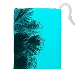 Modern Palm Leaves Drawstring Pouches (xxl)
