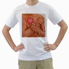 Embrace Love  Men s T Shirt (white) (two Sided)