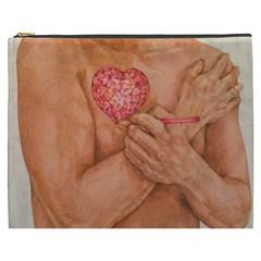 Embrace Love  Cosmetic Bag (xxxl)