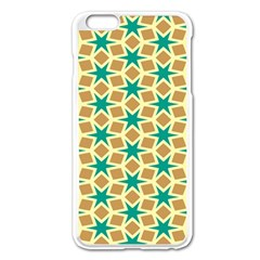 Stars And Squares Pattern			apple Iphone 6 Plus/6s Plus Enamel White Case