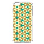 Stars and squares pattern			Apple iPhone 6 Plus/6S Plus Enamel White Case Front