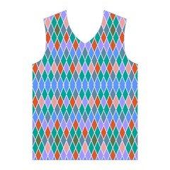 Pastel rhombus patternMen s Basketball Tank Top