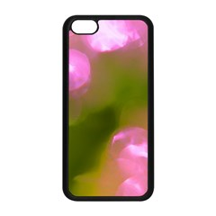 Pink And Green Circles Apple Iphone 5c Seamless Case (black)