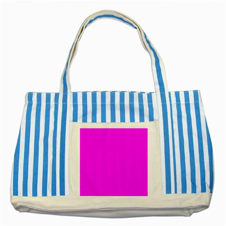 Trendy Purple  Striped Blue Tote Bag