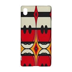 Rhombus ovals and stripesSony Xperia Z3+ Hardshell Case