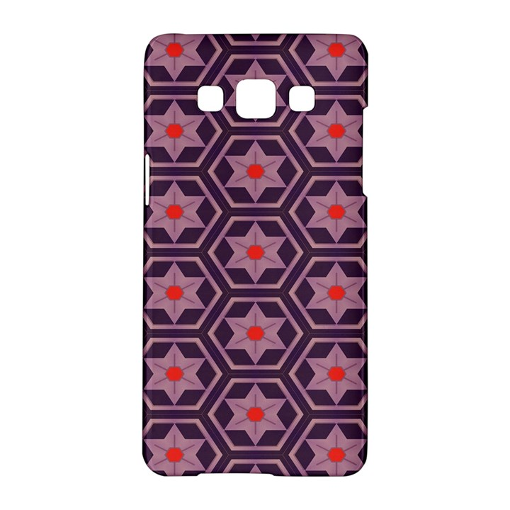 Flowers and honeycomb pattern			Samsung Galaxy A5 Hardshell Case