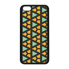 Green Triangles And Other Shapes Patternapple Iphone 5c Seamless Case (black)