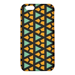 Green triangles and other shapes pattern			iPhone 6/6S TPU Case