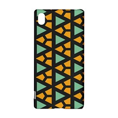 Green triangles and other shapes pattern			Sony Xperia Z3+ Hardshell Case