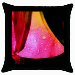 Pink Angel Throw Pillow Cases (black)