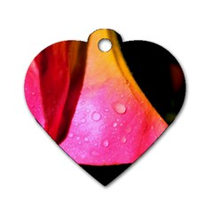 Pink Angel Dog Tag Heart (two Sides)