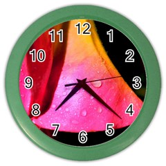 Pink Angel Color Wall Clocks