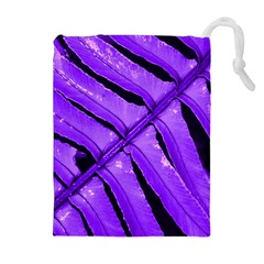 Purple Fern Drawstring Pouches (extra Large)