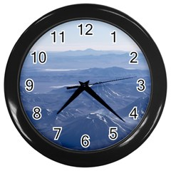 Window Plane View Of Andes Mountains Wall Clocks (black)