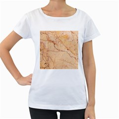 Stone Floor Marble Women s Loose Fit T Shirt (white)