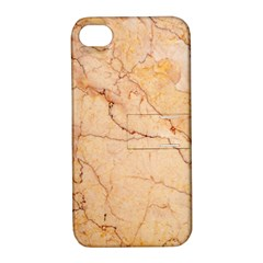Stone Floor Marble Apple Iphone 4/4s Hardshell Case With Stand