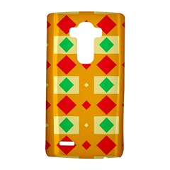 Green red yellow rhombus pattern			LG G4 Hardshell Case