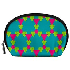 Triangles Honeycombs And Other Shapes Pattern Accessory Pouch