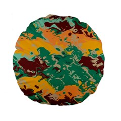 Texture In Retro Colors 	standard 15  Premium Flano Round Cushion
